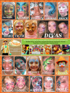 Denver clown simply smiles face painting options