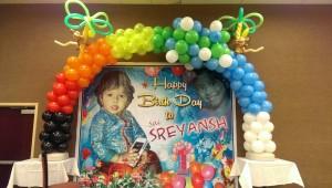 First-Birthday-Arch balloon decorations