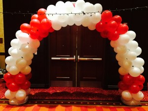 Life preserve balloon arch decor denver