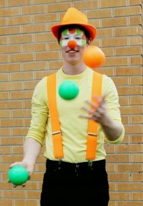 Smiles the Denver clown doing some illusions