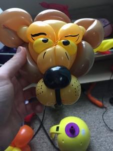balloon twisting animal lion