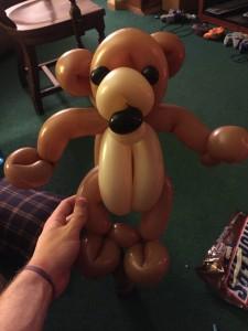 balloon twisting teddy bear