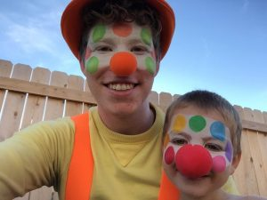 child clown in denver at his birthday party