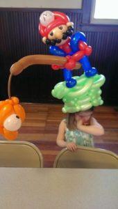 balloon animal twisting mario birthday hat