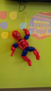 balloon twisting animal spiderman