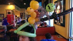balloon animal knight and horse