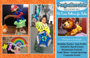 birthday party balloon twisting and face painting designs.