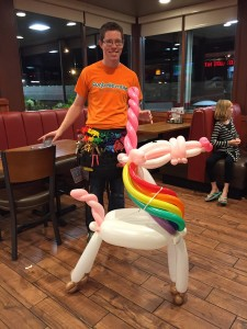 You can tell how much we love balloon twisting by our giant unicorns!