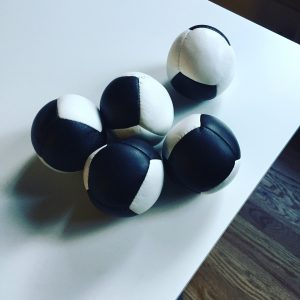 I've been working on 5-ball juggling